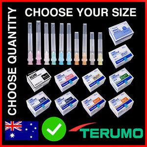 Hypodermic Needles Terumo 30g/27g/25g/23g/21g/19g/18g 100/50/25/10/5 Syringe Tip