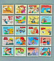 Comics Classic Collection Mint NH Set of 20 SINGLE STAMPS USA Scott #3000 1995