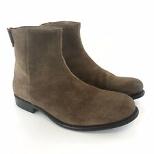 Ask The Missus EU43 UK9 Brown Leather Zip Up Desert Smart Casual Classic Boots