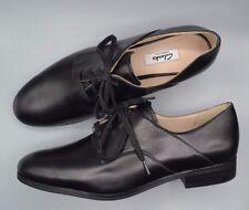 """Nuevo Clarks """"hotel Sueño"""" Damas Negro Cuero Con Cordones Formales Zapatos UK 3 D"""