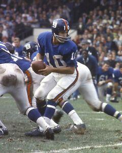 FRAN TARKENTON 8X10 PHOTO NEW YORK GIANTS NY FOOTBALL PICTURE NFL HAND OFF