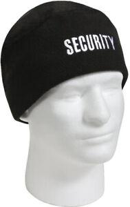 Black Security Polar Fleece Beanie Law Enforcement Watch Cap