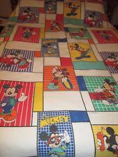"Vtg CHATHAM WALT Disney's Mickey Mouse Blanket  Acrylic 62"" X 87"""