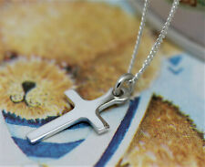 925 sterling silver small plain cross & chain free gift box and gift bag WJS93