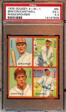 1935 Goudey 4 in 1 Baseball Card #9L Boston Braves PSA 5.5 EX+
