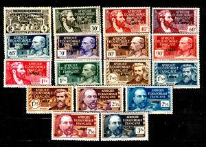 AFRIQUE EQUATORIALE A.E.F. Entre N° 102/124 Neufs*/**. Cote 70 € (17 valeurs)