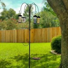 Bird Feeding Station Wild Bird Feeder Kit with 4 Bird Feeder Water Free Standing