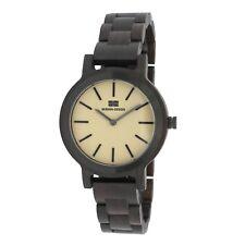 BERGEN-DESIGN Echtholz Damen Armbanduhr Modell EDDA, Sandelholz
