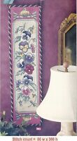 PANSY BOUQUET BELLPULL   -  CROSS STITCH PATTERN ONLY  PY - EUQ