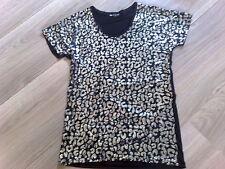 Abend-Kleid von VIE TA VIE PARIS NEU mit Pailetten silber-schwarz Größe 36