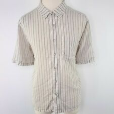 Exofficio Sportsman Mens L Fishing Striped Button Front Short Sleeve Gray Vented