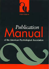 NEW Publication Manual of the American Psychological Association