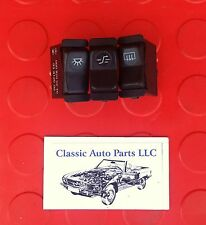 Mercedes Benz 126 SEC Set of 3 Console Switches for Antenna Defroster Sunroof
