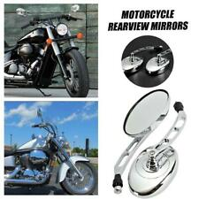 Chrome Oval Rearview Mirrors For Kawasaki VN Vulcan Classic Nomad Drifter 1500