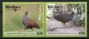 Tonga 2018 MNH Birds Birdpex Orange-footed Scrufowl 2v Set Bird Stamps