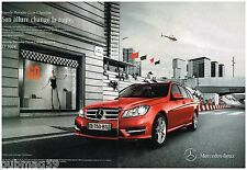 Publicité Advertising 2012 (2 pages) Mercedes Classe C Sportline