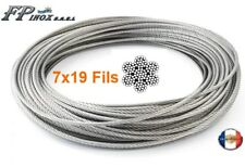 Câble inox A4 Trés Souple 7X19 ( 133 fils ) Diamètre �˜ 3  4  5  6 8 mm  inox A4