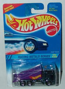 Hot Wheels Racing Metals Kenworth Ramp Truck Blue Chrome Sp7s #337 Malaysia 1995