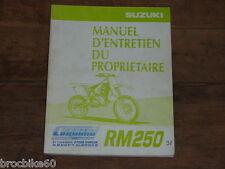 MANUEL REVUE TECHNIQUE D ATELIER SUZUKI RM 250 1998 -> RM250 250RM
