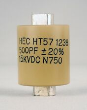 Factory New High Energy HT57Y501MA  500 Pf 15KV Ceramic Doorknob Capacitor Ham