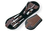 Nail Manicure Travel Kit Steel pusher cuticle nipper scissors tweezers file
