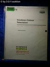 Sony Bedienungsanleitung KV 28FQ75B / 32FQ75B Color TV (#1595)