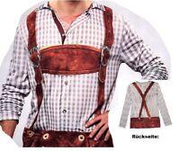 Lederhosenshirt Lederhose Shirt Bayern Kostüm XL Fasching Karneval Verkleidet
