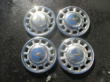genuine Chevy 13 inch metal hubcaps wheel covers set
