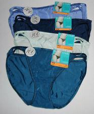 4 Vanity Fair String Bikini Panty Nylon Illumination 7 L 18108 Blue Green NWT