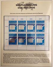 Österreich 1988 First hologram on stamp from Austria Weltsammlung der Rekorde **