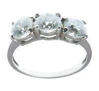 Anello TRILOGY argento 925 rodiato anallergico con zirconi bianchi Regalo donna