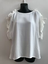 WOMENS SEED WHITE TOP SIZE 8 - AS NEW
