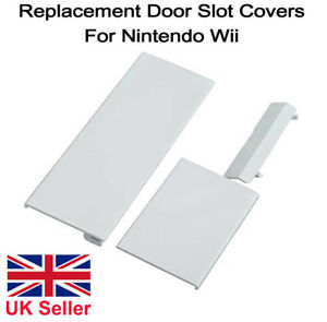 Nintendo Wii Console Door Cover Kit Flap White Replacement Panel Covers Set of 3