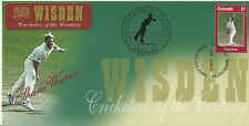 GRENADA WISDEN 2000 CRICKET SHANE WARNE 1v FIRST DAY COVER No 4 of 8