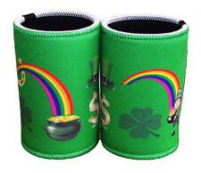 St Patricks Day - Lucky Stubby Holders set of 2 Green background
