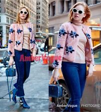 Zara Faux Fur Jacket Pink Floral Print Teddy Jacket  SIZE XS UK 6