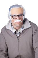 Jackass Rude Grandpa Grumpy Old Man Costume Wig