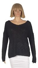 Mudd Juniors Size Large Black Knit Long Sleeve Criss Cross Back Sweater NEW