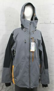 Quiksilver Travis Rice Stretch Shell Snow Jacket, Mens Medium, Iron Gate New