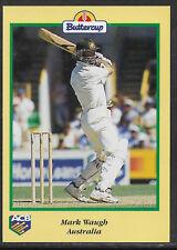 BUTTERCUP BREAD 1996 CRICKET CARD MARK WAUGH (Australia) Scratchie intact
