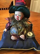 "Geppeddo 8"" Porcelain Doll On Pillow New Without Box Bingo"