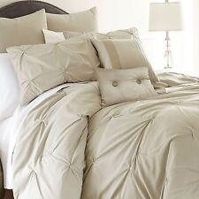 Queen Size Comforter Set 8-piece Luxury Elegant Bedding Modern Pillows Bedroom
