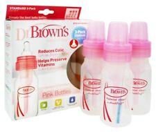 Dr. Brown's - Natural Flow Standard Baby Bottle 3-Pack Pink - 4 oz.