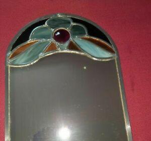 Schöner Spiegel Tiffany bleiverglast Handarbeit Wandspiegel Unikat