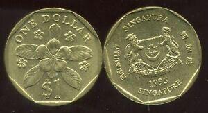 SINGAPORE - SINGAPOURE 1 DOLLAR 1995  ( etat )