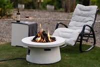 US Fire Pit Table 50,000 BTU Heater Outdoor Propane Round Patio Backyard Firepit