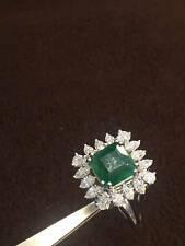 Classy 6.60 Cts F/VS1 Marquise Pear Diamonds Emerald Cocktail Ring In 18K Gold