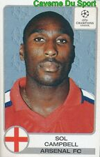 063 SOL CAMPBELL ENGLAND ARSENAL.FC STICKER PANINI CHAMPIONS LEAGUE 2001-2002