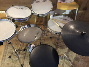 """Dragon Practice Drum Kit - """"The Silent One"""" 7 pieces Inc. Seat."""