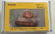 MGM 080-407 1/72 Resin WWII+ E25 Flakpanzer Zerstörer 2 1946 AA